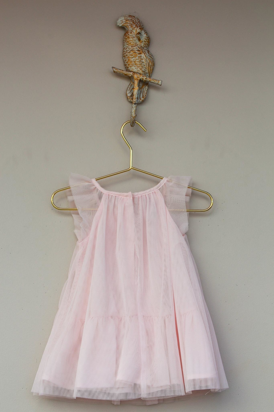 Baby Biscotti Peek-A-Boo Feather Dress - Side Cropped Image