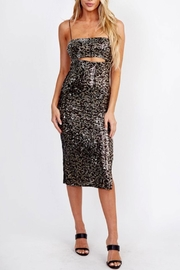 Olivaceous Peek-a-Boo Sequin Dress - Product Mini Image
