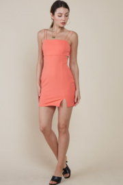 blue blush Peek-A-Boo Waist Bodycon Dress - Other