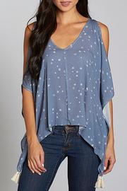 Lovestitch Peek-a-Boo Shoulder Top - Front cropped