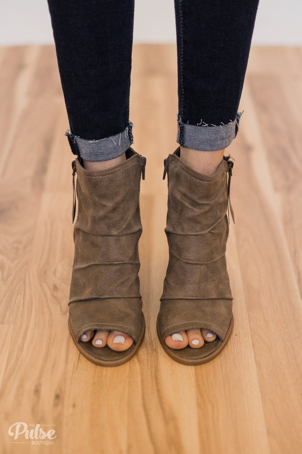 Rampage Peep Toe Bootie - Front Cropped Image