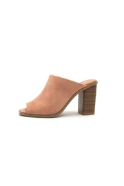 Qupid Peep-Toe Mule - Product Mini Image