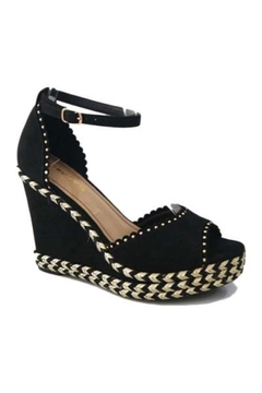 Bamboo Peep Toe Wedge - Alternate List Image