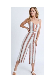 Love Tree Peephole Striped Jumpsuit - Product Mini Image