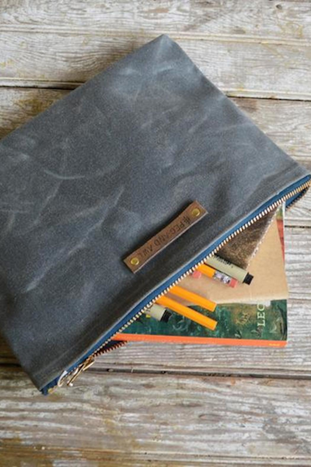 Peg & Awl Waxed Canvas Pouch - Front Cropped Image