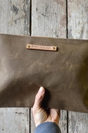 Peg & Awl Waxed Canvas Pouch - Front full body