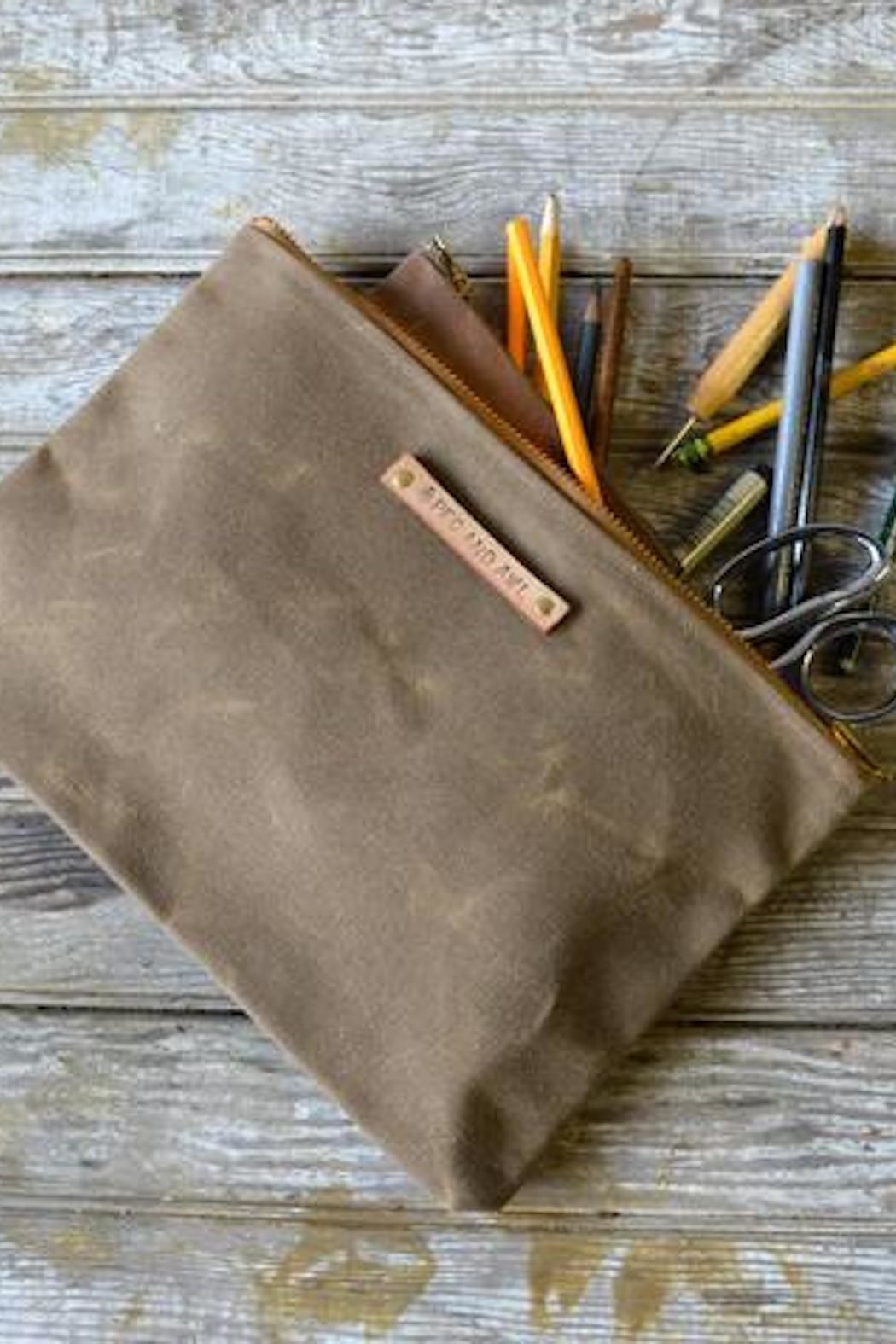 Peg & Awl Waxed Canvas Pouch - Main Image
