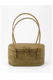 Hancock Baskets Peggy Fisher Oval Evening Bag-Small - Product Mini Image