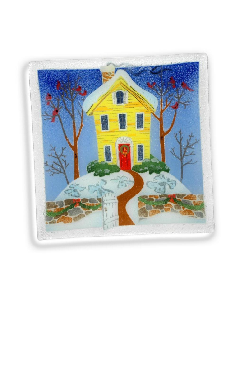 Peggy Karr Glass Home Winter Plate From Pennsylvania By