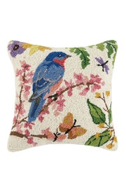 Peking Handicraft Bluebird Hook Pillow - Product Mini Image