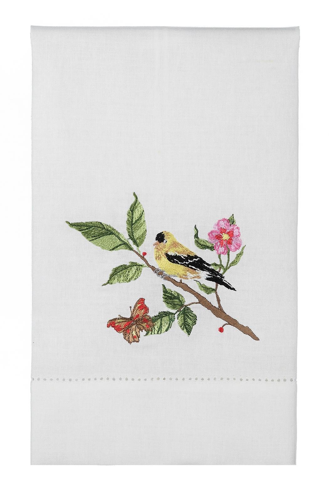 Peking Handicraft Goldfinch Guest Towel - Front Cropped Image