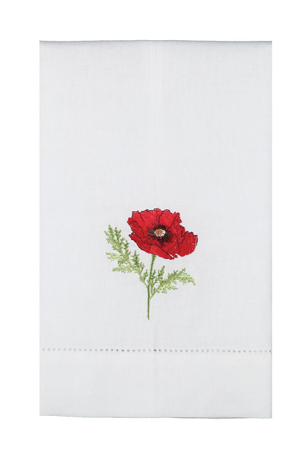 Peking Handicraft Poppy Guest Towel - Front Cropped Image
