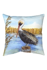 Manual Woodworkers and Weavers Pelican Pillow - Front cropped