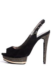 Pelle Moda Black Diamond Sling Backs - Product Mini Image