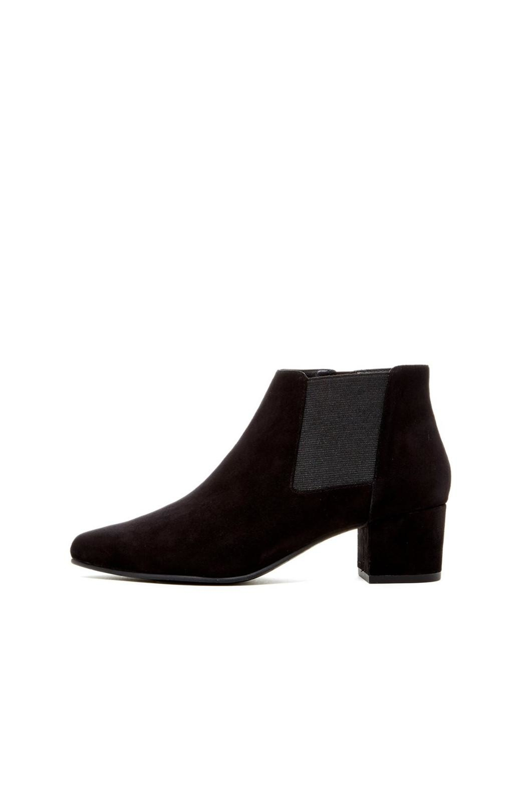 Pelle Moda Black Suede Bootie - Front Cropped Image