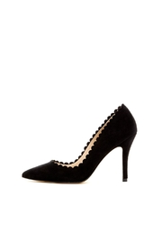 Pelle Moda Black Suede Heel - Product Mini Image