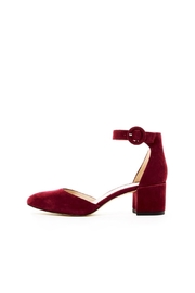 Pelle Moda Burgundy Suede Heel - Front cropped