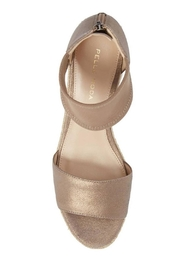 Pelle Moda Platinum Stretchy Wedge - Side cropped