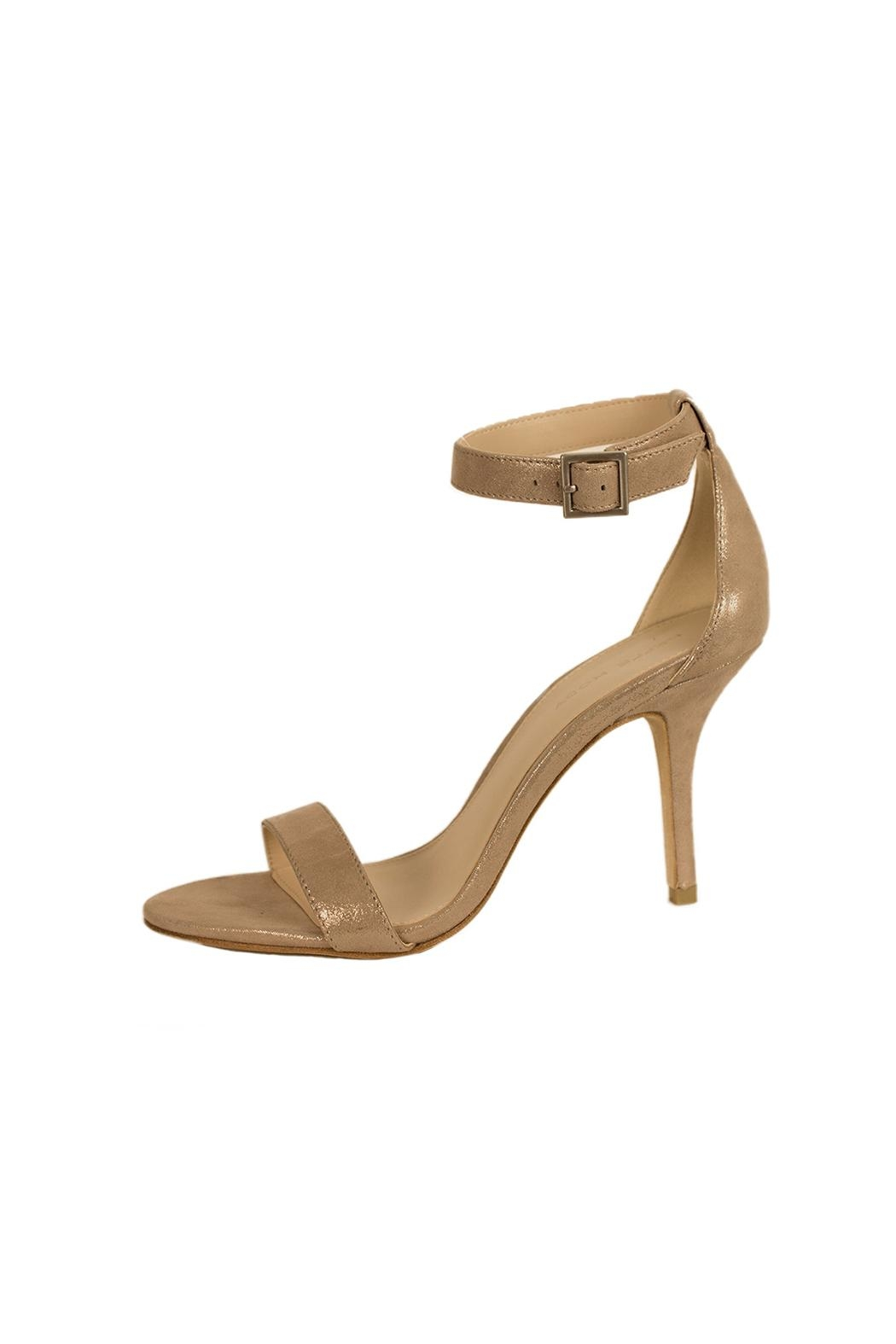 Pelle Moda Taupe Shimmer Heel - Front Cropped Image