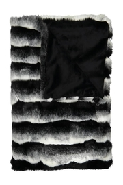 Peluche Black And White Heavy Fur Natural Black Blanket for Newborn | Winter Swaddle - Product Mini Image