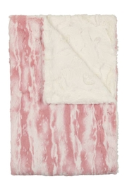 Peluche Mauve and Natural Tie Dye Blanket for Newborn   Winter Swaddle - Product Mini Image