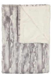 Peluche Soft Grey & Natural Tie Dye Blanket for Newborn | Winter Swaddle - Product Mini Image