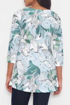 Whimsy Rose Pen and Ink Lily Seafoam Katherine Hi-Lo Thermal Tunic - Alternate List Image