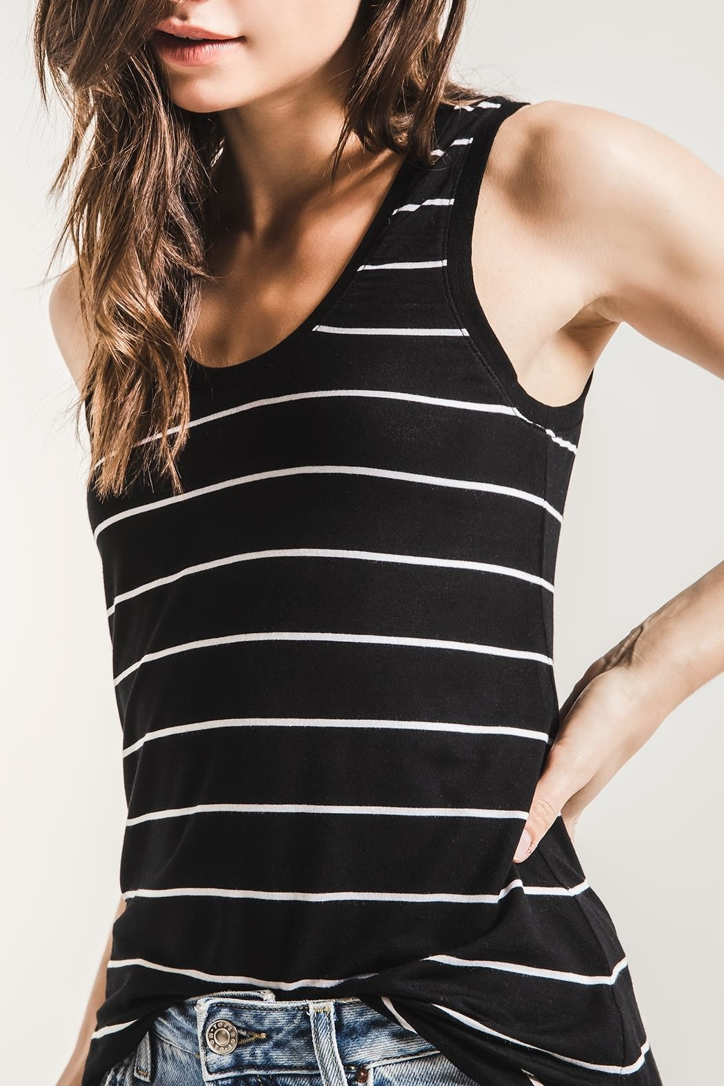 z supply Pencil Striped Tank - Side Cropped Image