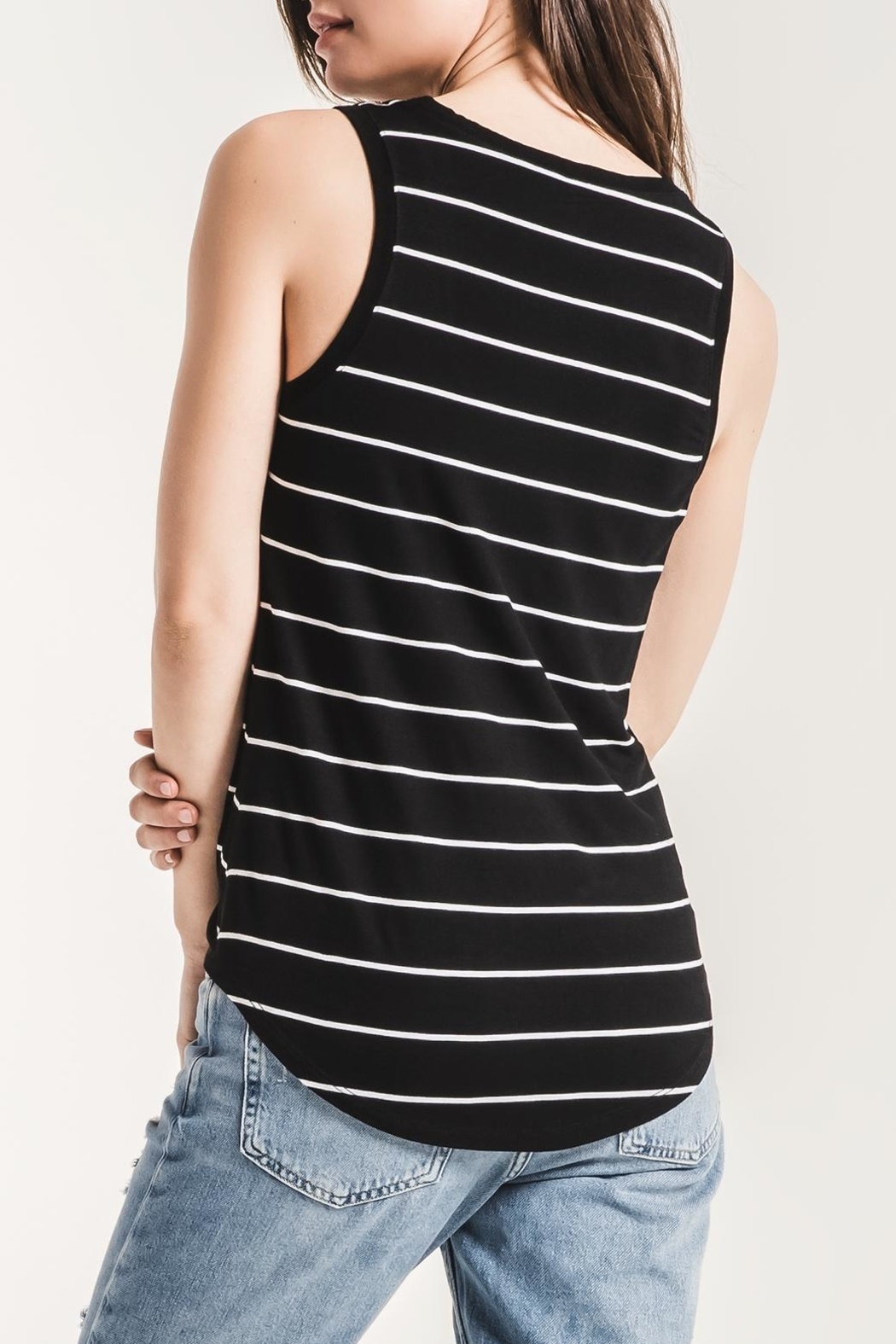 z supply Pencil Striped Tank - Front Full Image