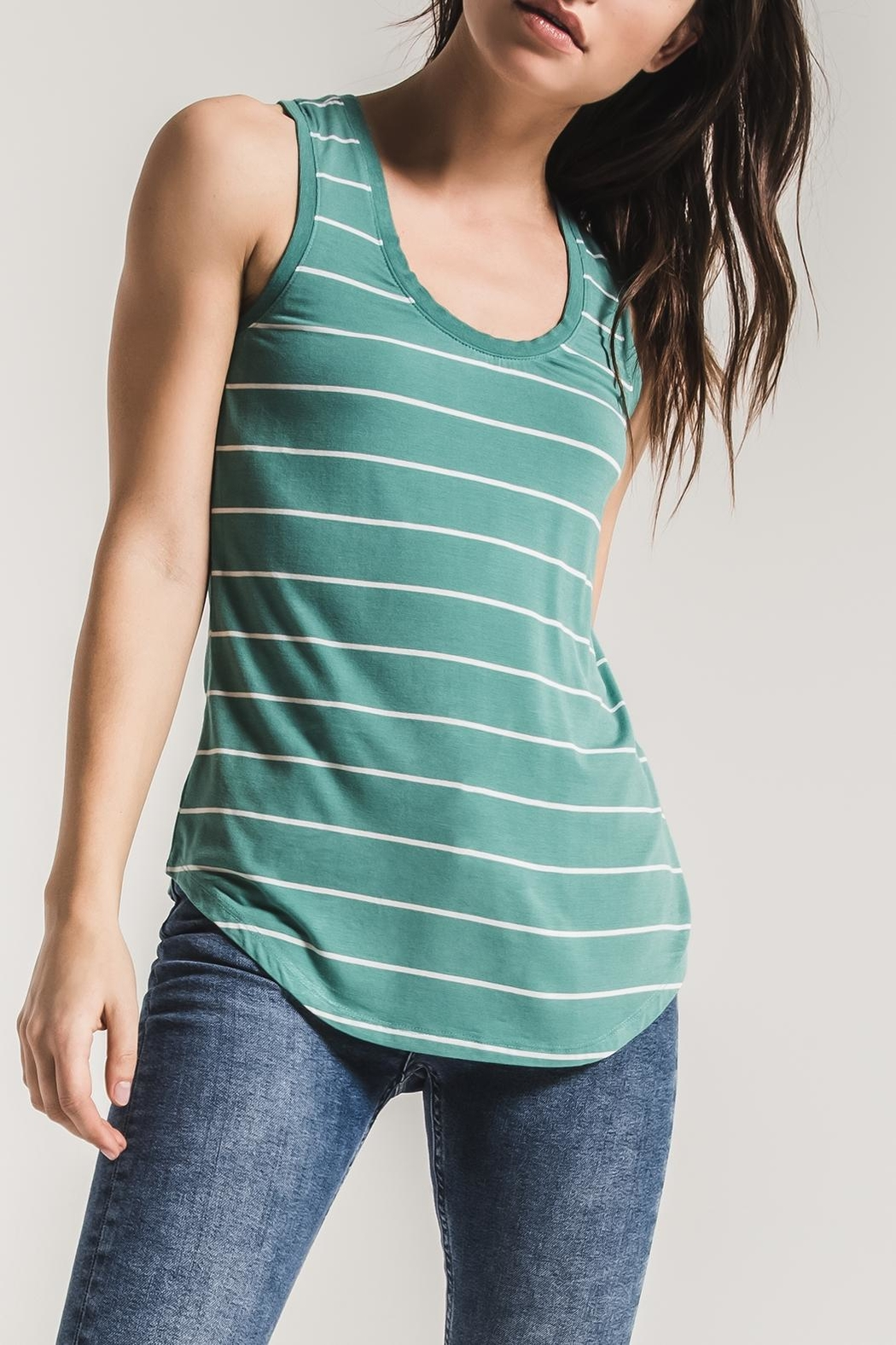 z supply Pencil Striped Tank - Front Cropped Image