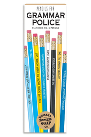 WHISKEY RIVER SOAP CO. Pencils - Grammar Police - Front cropped