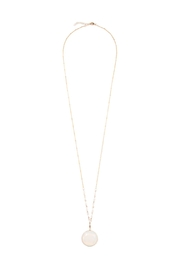 Riah Fashion Pendant Stone Longline-Necklace - Front cropped