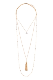 Riah Fashion Pendant-Tassel Layer-Necklace - Product Mini Image