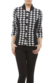 Pendleton Houndstooth Knit Jacket - Front cropped