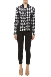 Pendleton Houndstooth Knit Jacket - Front full body