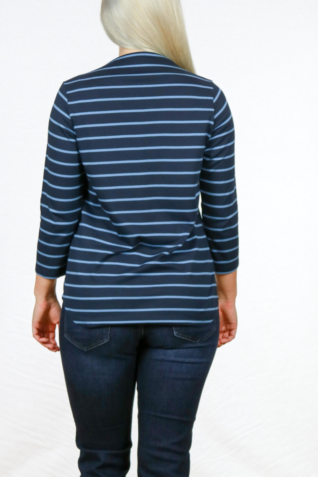 Pendleton Marseille Stripe Tee - Side Cropped Image