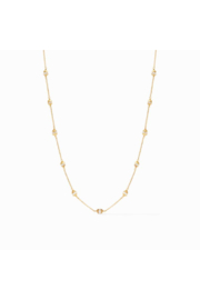 Julie Vos PENELOPE DELICATE STATION NECKLACE-GOLD PEARL - Product Mini Image