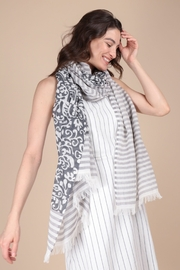 Saachi Penelope Paisley Striped Scarf - Product Mini Image