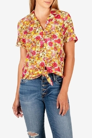 Kut from the Kloth Penelope Tie-Front Blouse - Product Mini Image