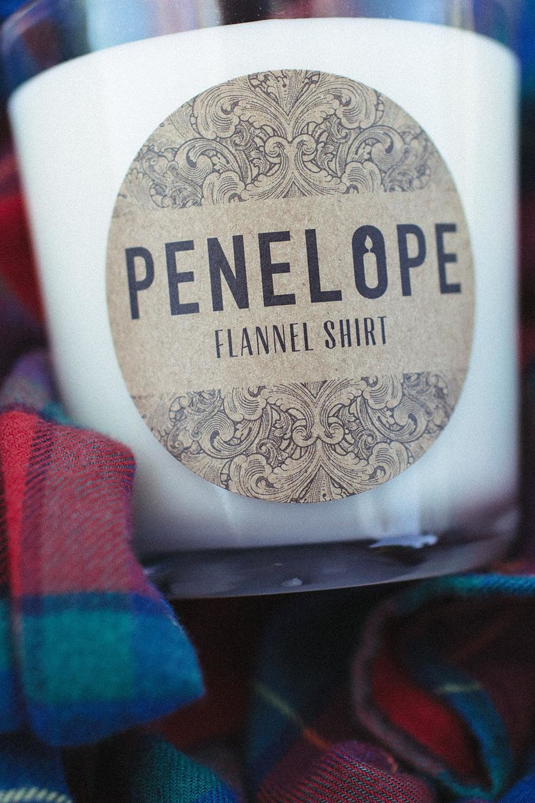 penelope candles Flannel Shirt Candle - Front Full Image