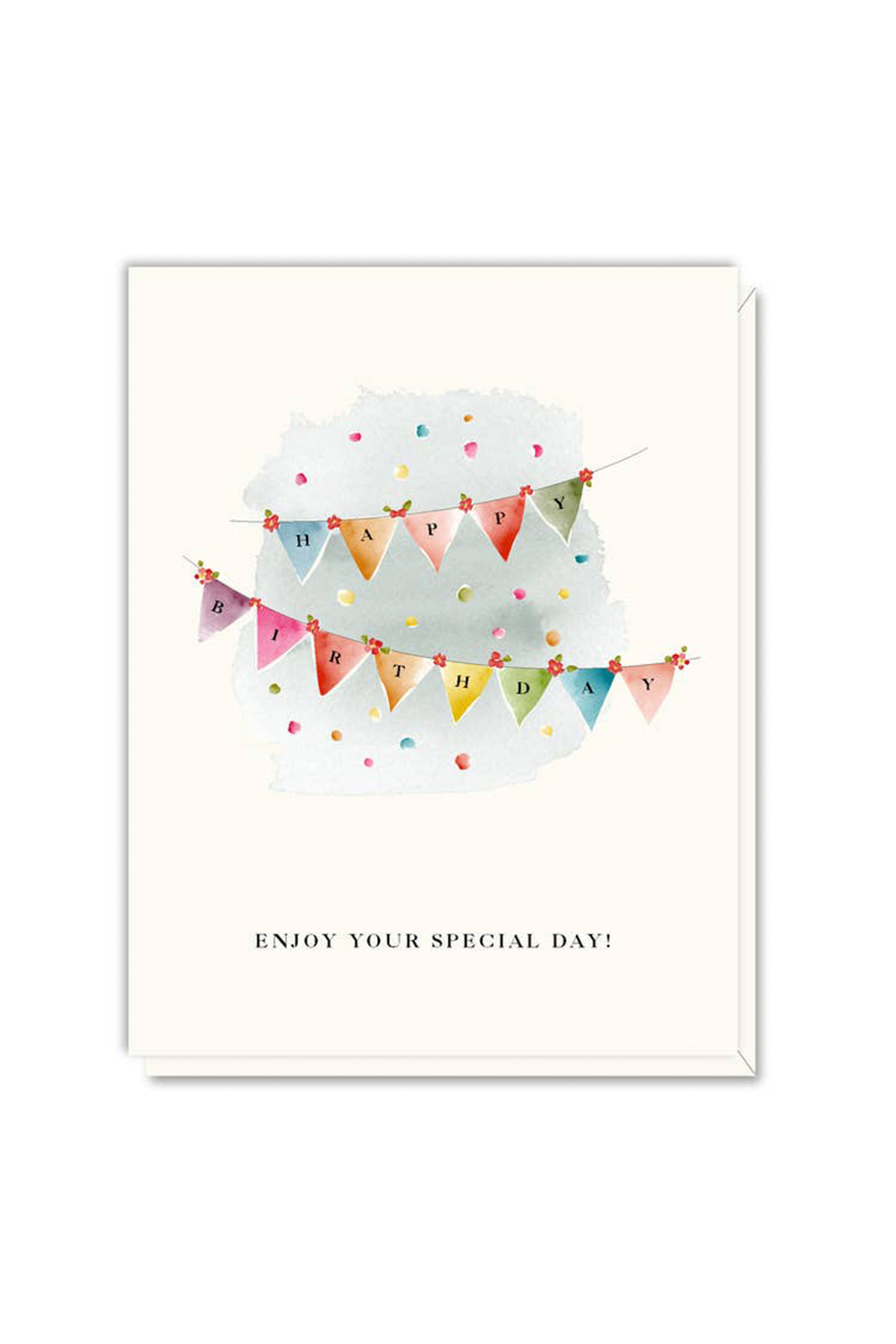 Driscoll Design Pennants Birthday Card - Main Image