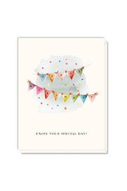 Driscoll Design Pennants Birthday Card - Front cropped