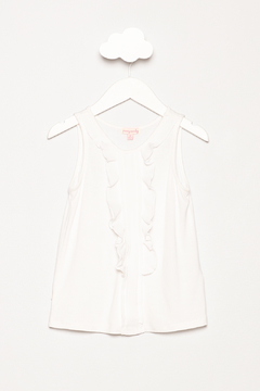Penny Candy White Ruffle Tank - Product List Image