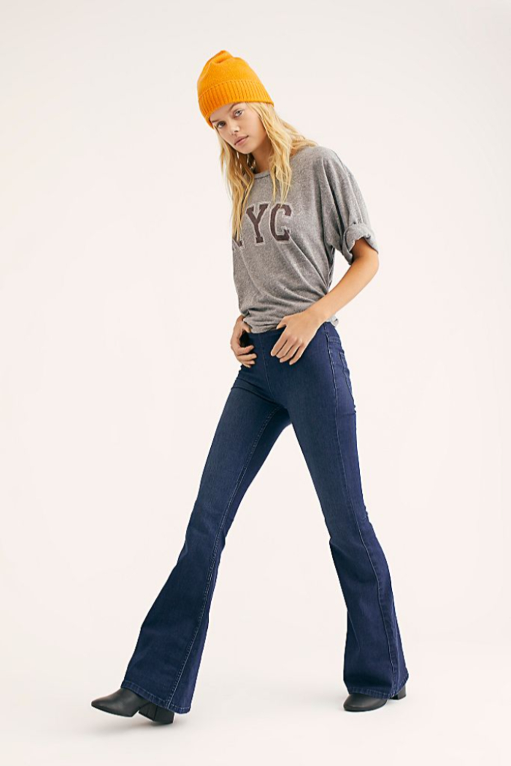 Free People Penny Pull-On Flare Jeans - Main Image