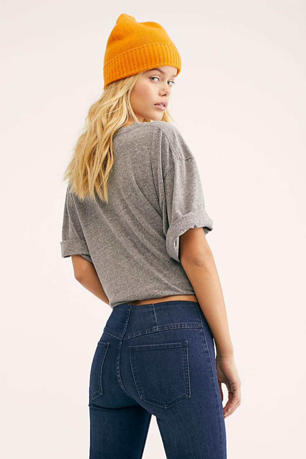 Free People Penny Pull-On Flare Jeans - Side Cropped Image