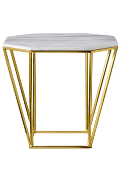 Bloomingville Pentagonal Table with White Marble Top - Alternate List Image