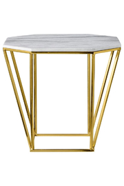 Bloomingville Pentagonal Table with White Marble Top - Product Mini Image