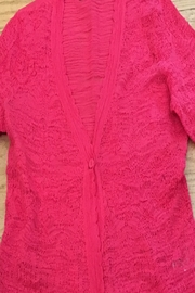 Nic + Zoe Peony Cardigan Sweater, one button - Front cropped
