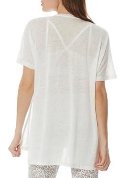 Peony High-Low Linen Tunic - Alternate List Image
