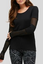 Peony Black Long Sleeve Top - Product Mini Image